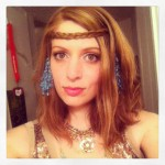 Made an impromptu faerie costume for High Ball. I actually did my hair for once, sort of!